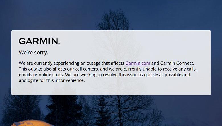 Garmin взломали. Завод остановлен. Фирменные приложения не работают. Пользователи опасаются утечки персональных данных